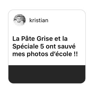 Kristian : Pâte Grise and spéciale 5 rescued my school photos!!